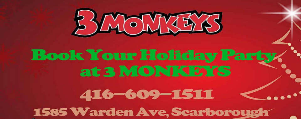 3 Monkeys Holiday Party Booking 20181120_web